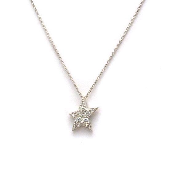 スタージュエリー K18WGダイヤモンド ネックレス
