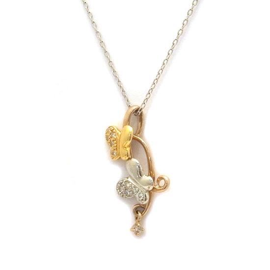 K18YG・WGダイヤモンド ネックレス