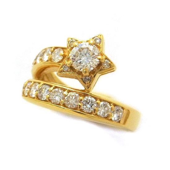 K18ダイヤモンド リング