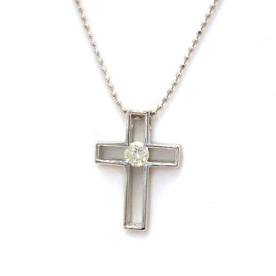 K18WGダイヤモンド ネックレス