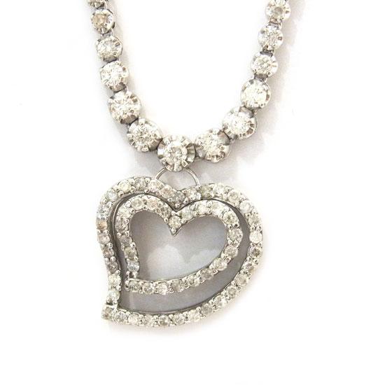 K14WGダイヤモンド ネックレス