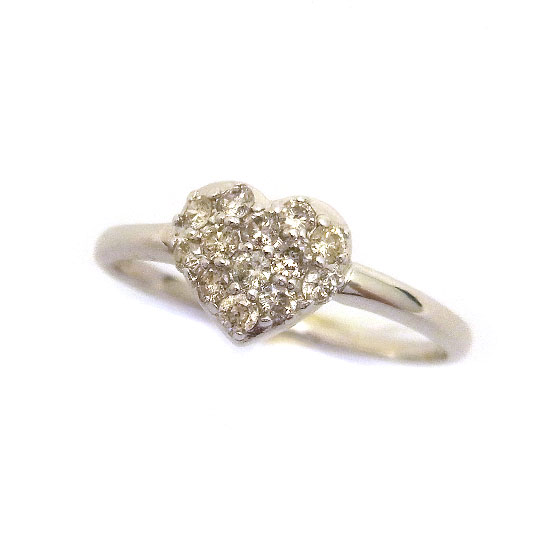 K18WGダイヤモンド リング