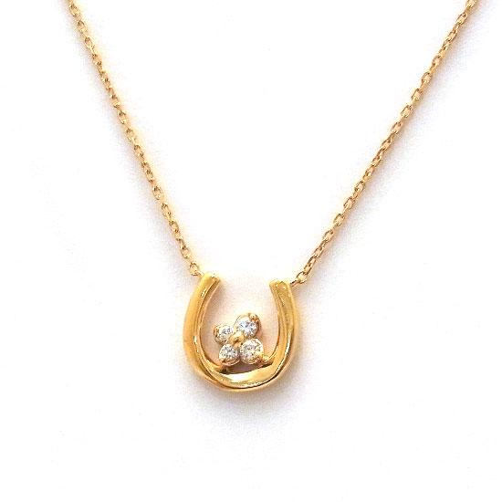 4℃ K18PGダイヤモンド ネックレス