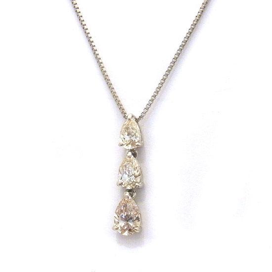 Pt900ダイヤモンド ネックレス