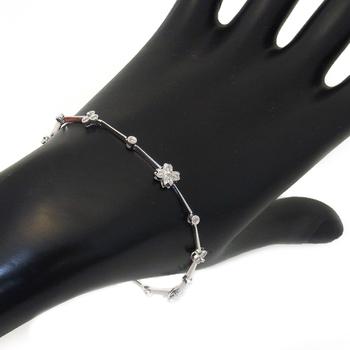 K18WGダイヤ ブレスレット