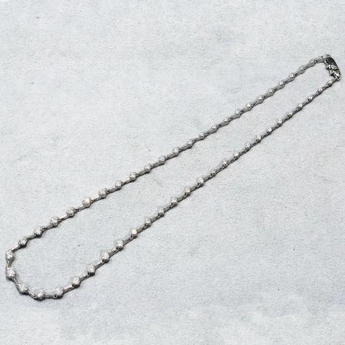 Pt850ダイヤテニスネックレス