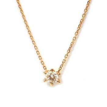 K18PGダイヤモンド ネックレス