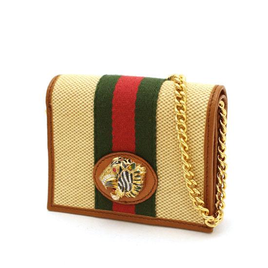 グッチ チェーン付きコンパクト財布