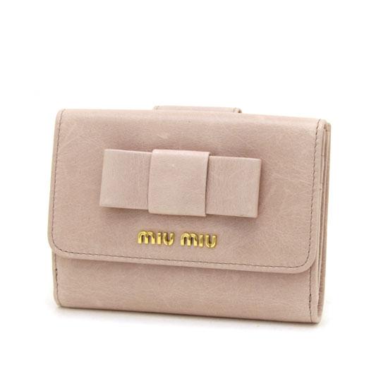ミュウミュウ 二つ折財布